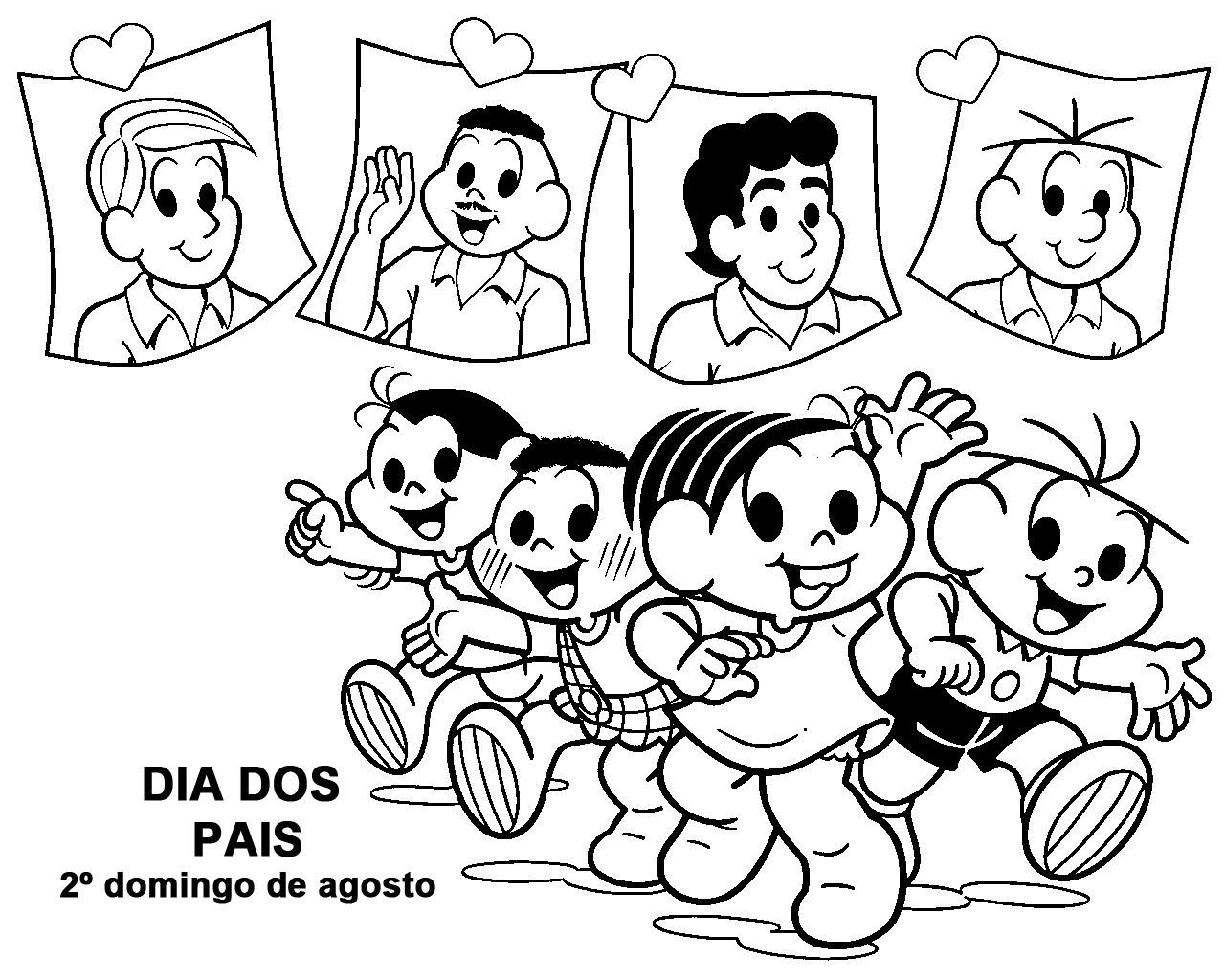 Dia Dos Pais Atividades Turma Da Monica Almanaque Dos Pais