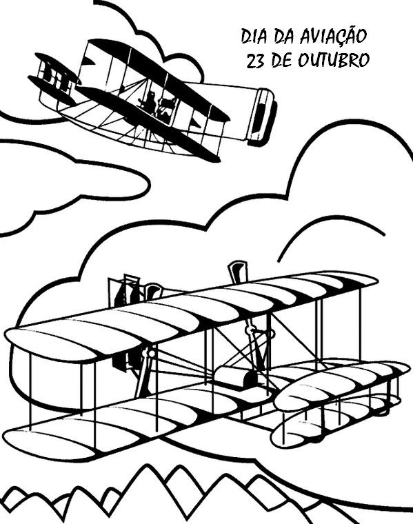 Dia Da Aviacao 23 De Outubro Atividades Infantis Para Colorir
